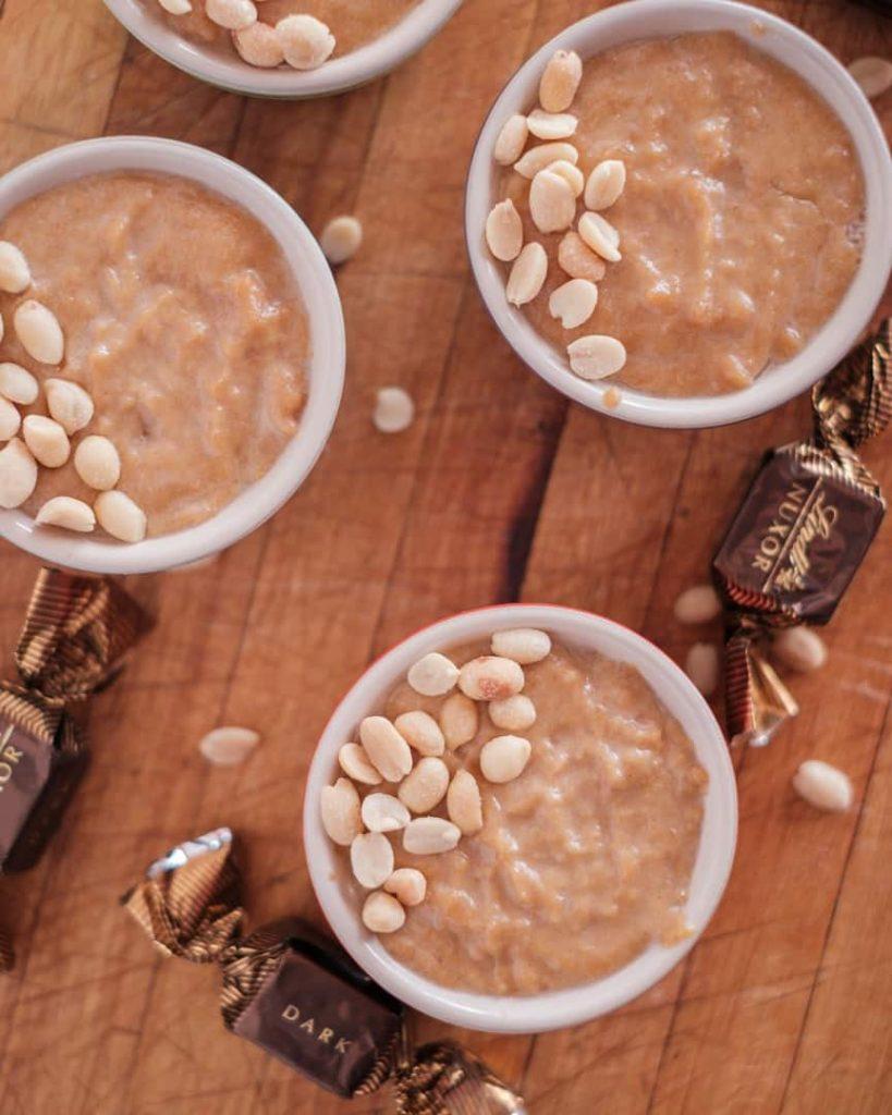 Creamy Vegan peanut butter mousse image