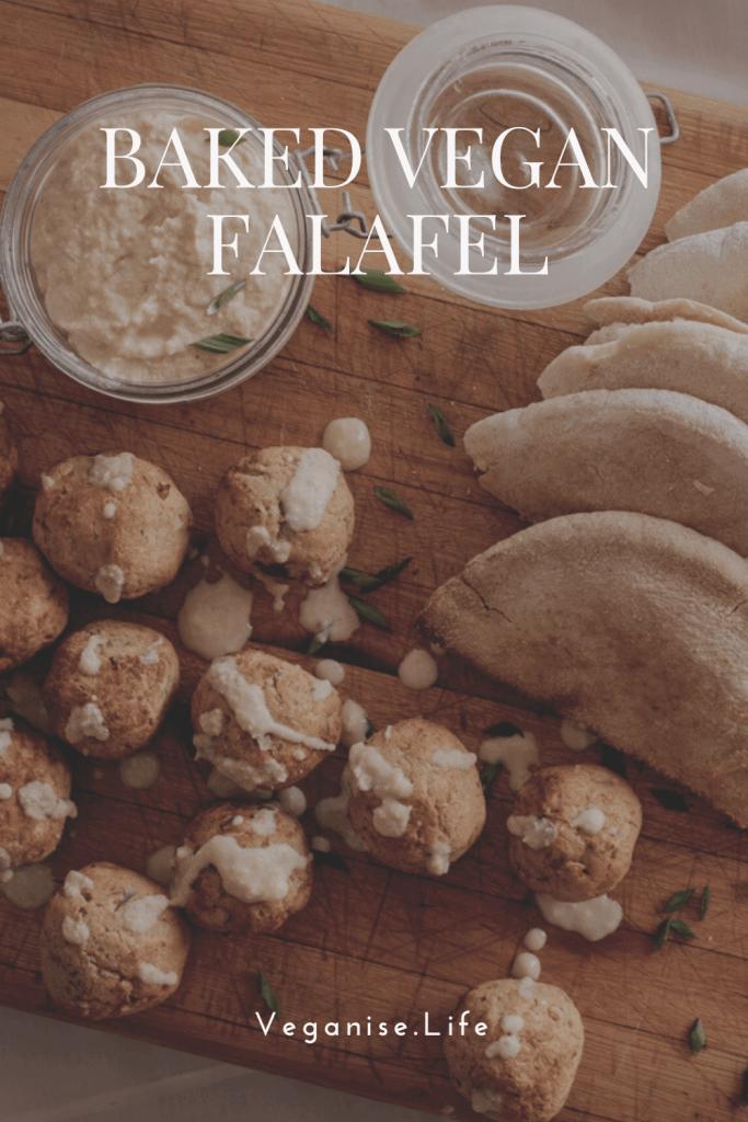 Pinterest Image - Baked Vegan Falafel