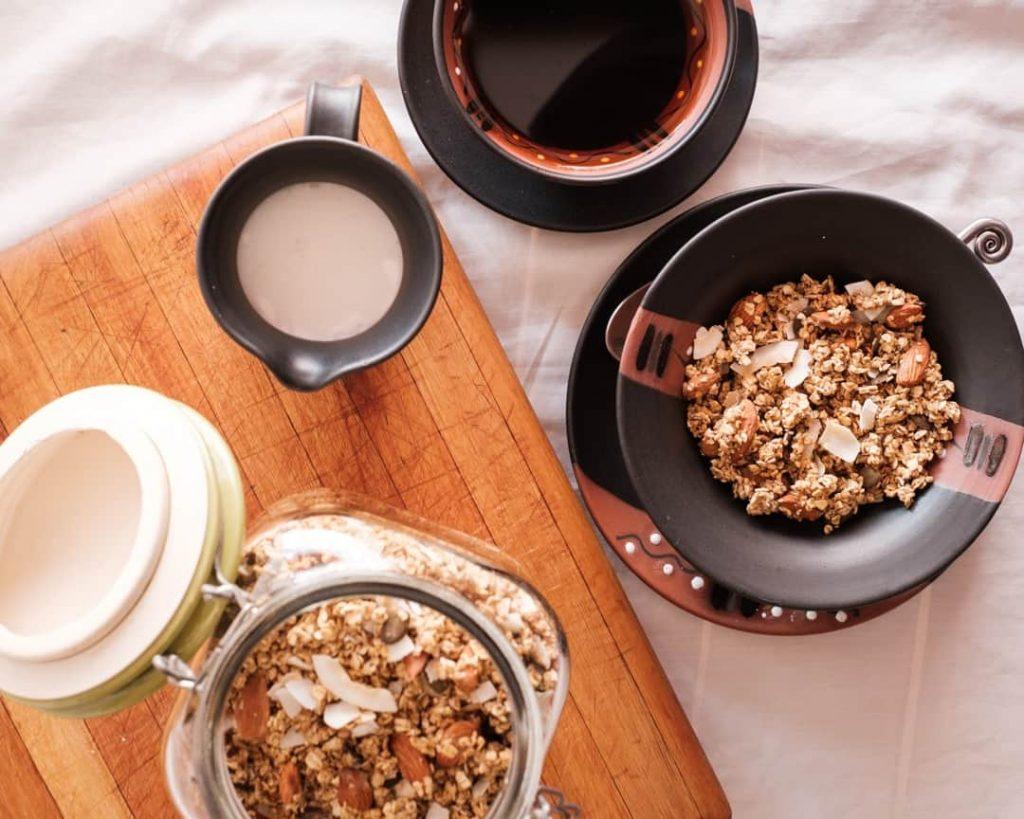 Granola Breakfast with Coconut milk Image