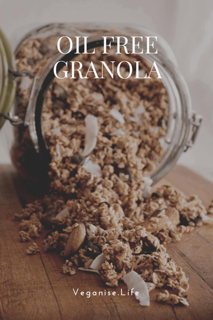 Vegan Oil-Free Granola Pinterest image