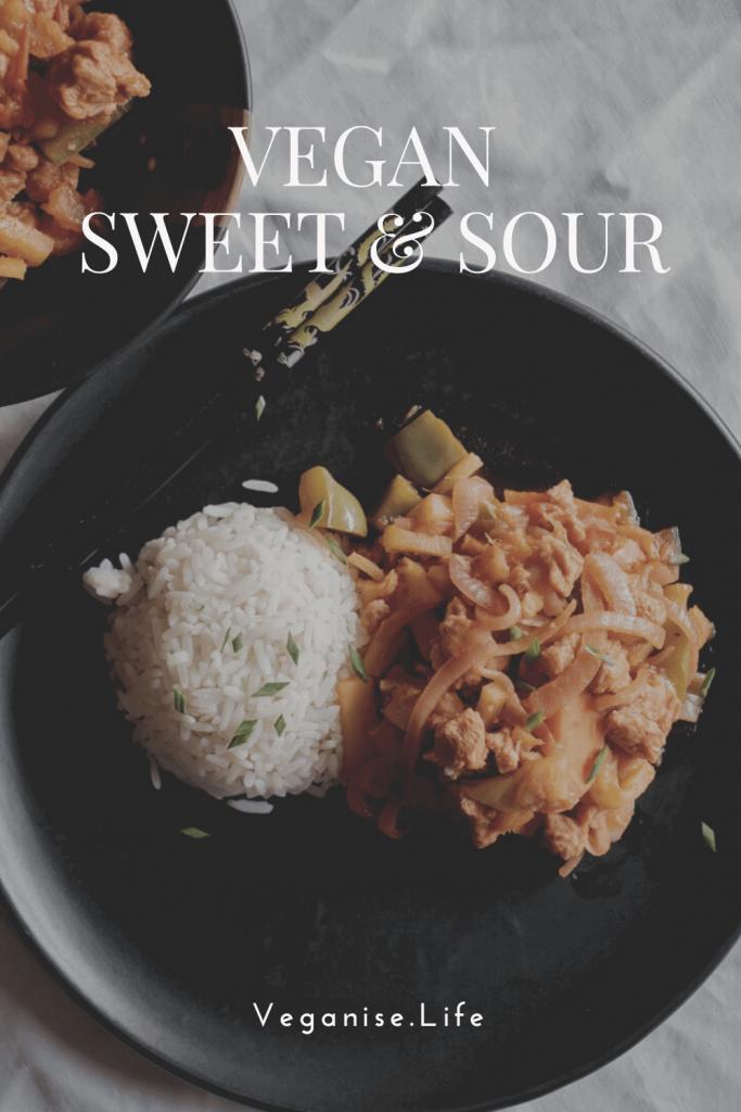 Vegan Sweet and Sour Recipe - Pinterest Image