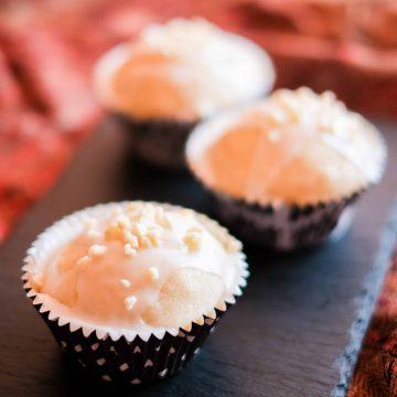 3 Vegan Almond Cupcakes.