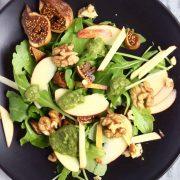 Apple Fig Walnut Rocket Salad image.