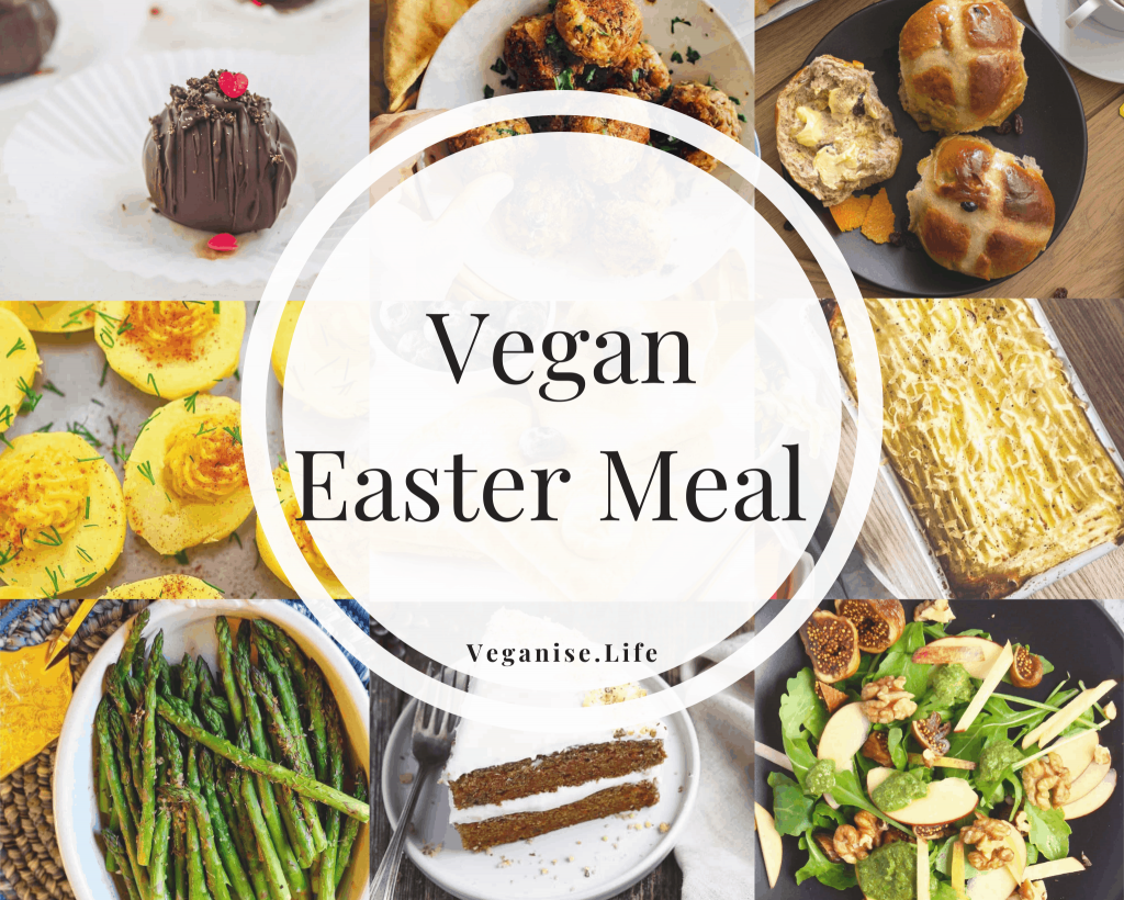 Vegan Easter Meal Blog post Image.