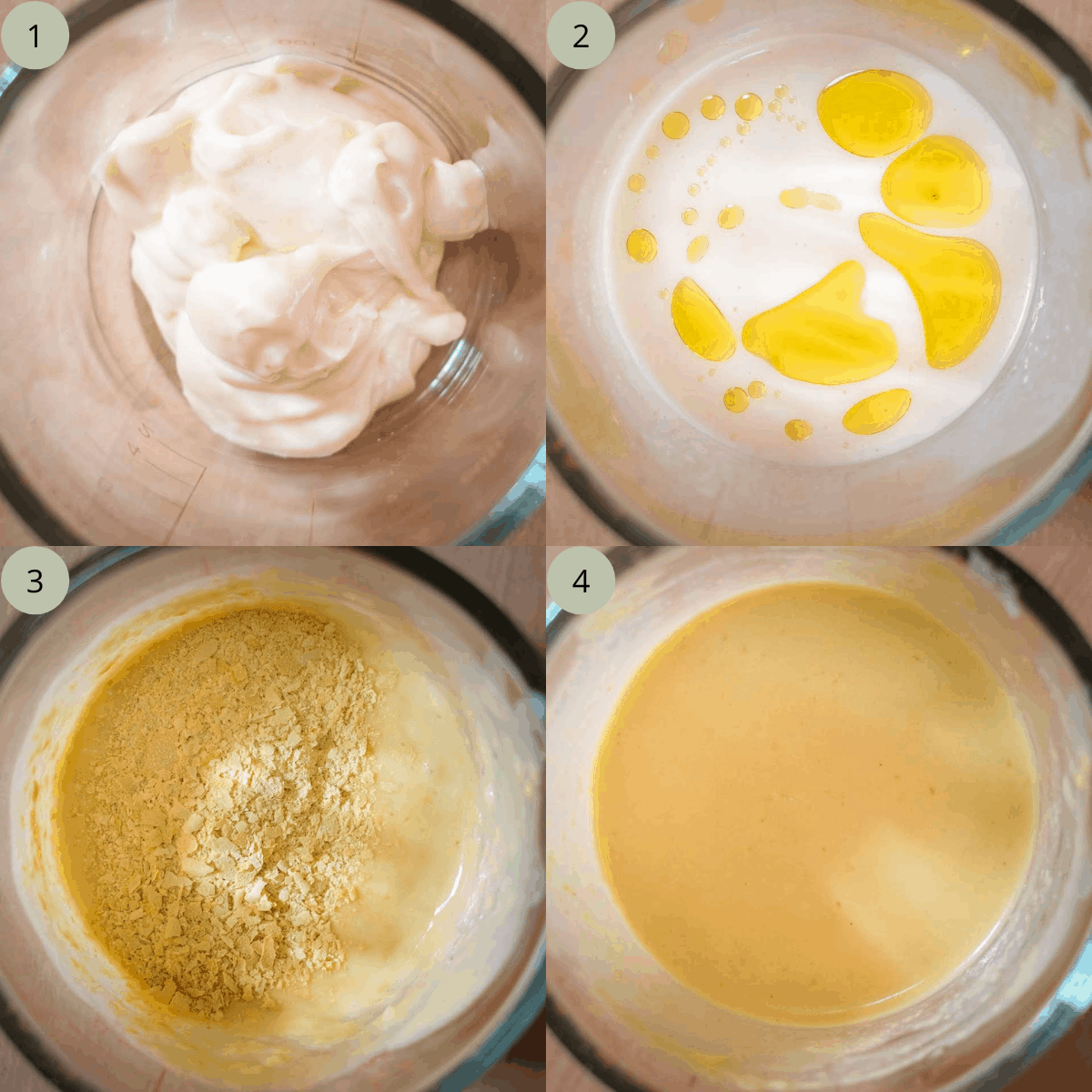 Step by step instructions on how to make vegan Caesar Salad Dressing.